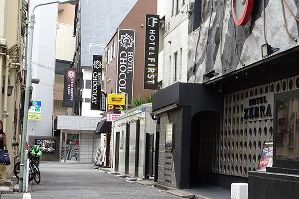 池袋駅東口のラブホテル街