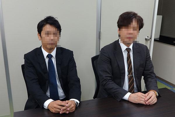 原一調査部の探偵A氏(右)とW氏